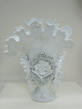 Ann Agee (American, born 1959). <em>Vase</em>, 2011. Porcelain, 15 5/8 x 11 3/4 x 7 1/2 in. (39.7 x 29.8 x 19.1 cm). Brooklyn Museum, Gift of Flavio Pompetti, 2013.16. © artist or artist's estate (Photo: Brooklyn Museum, CUR.2013.16_front.jpg)