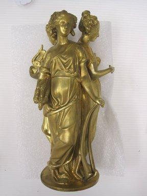 Cornelius & Baker (1853-1869). <em>Three Graces</em>, ca. 1850. Cast bronze, 12 1/2 x 7 in. (31.8 x 17.8 cm). Brooklyn Museum, Sarah M. Rand Fund, 2013.34. Creative Commons-BY (Photo: Brooklyn Museum, CUR.2013.34.1.jpg)