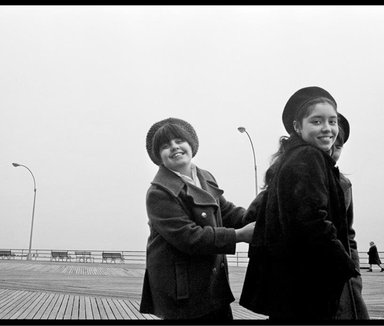 Ed Gallucci (American, born 1947). <em>Coney Island Girls</em>, 1969, printed 2013. Inkjet print, image: 8 1/2 x 12 3/4 in. (21.6 x 32.4 cm). Brooklyn Museum, Gift of the artist, 2013.80.1. © artist or artist's estate (Photo: Image courtesy of the artist, CUR.2013.80.1_artist_photograph.jpg)