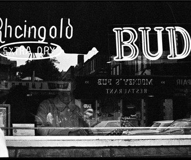 Ed Gallucci (American, born 1947). <em>BUD, 7th Ave.</em>, 1972, printed 2013. Inkjet print, image: 8 1/2 x 12 3/4 in. (21.6 x 32.4 cm). Brooklyn Museum, Gift of the artist, 2013.80.4. © artist or artist's estate (Photo: Image courtesy of the artist, CUR.2013.80.4_artist_photograph.jpg)