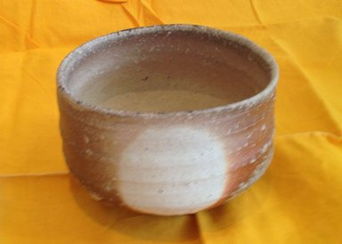 Otani Shiro (Japanese, born 1936). <em>Tea Bowl</em>, 1995. Unglazed stoneware with small inclusions; shigaraki ware, 3 15/16 x 4 15/16 in. (10 x 12.5 cm). Brooklyn Museum, Gift of Shelly and Lester Richter, 2013.83.17. Creative Commons-BY (Photo: Brooklyn Museum, CUR.2013.83.17.jpg)