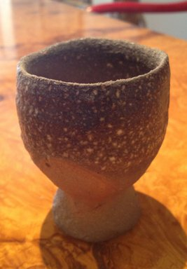 Unknown. <em>Footed Cup</em>, Last quarter of the 20th century. Stoneware with quartz inclusions, ash glaze, 3 1/8 x 2 3/8 in. (8 x 6 cm). Brooklyn Museum, Gift of Shelly and Lester Richter, 2013.83.65. Creative Commons-BY (Photo: Brooklyn Museum, CUR.2013.83.65.jpg)