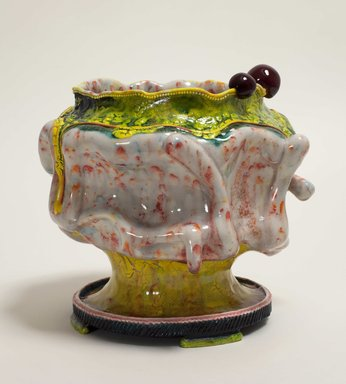 Kathy Butterly (American, born 1963). <em>Saturday Night</em>, 2012. Clay, glaze, 6 7/8 x 7 5/8 x 7 3/8 in. (17.5 x 19.4 x 18.7 cm). Brooklyn Museum, Purchase gift of Jill and Jay Bernstein, 2013.8. © artist or artist's estate (Photo: Image courtesy of the artist&rsquo;s gallery, CUR.2013.8_gallery_photo.jpg)