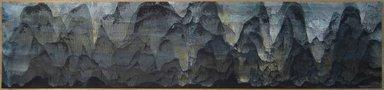 Mansheng Wang. <em>Last Rays of Sunset</em>, 2012. Chinese ink, tempera, acrylic on cardboard, 9 3/4 x 43 1/2 x 1/16 in. (24.8 x 110.5 x 0.2 cm). Brooklyn Museum, Gift in honor of Betty Jean Kolenda, 2014.36.1. © artist or artist's estate (Photo: Brooklyn Museum, CUR.2014.36.1.jpg)