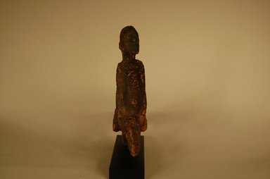 Dogon. <em>Figure of Rider</em>, 20th century. Wood, organic materials, 6 x 7 1/16 x 1 9/16 in. (15.3 x 18 x 4 cm). Brooklyn Museum, Gift in memory of Frederic Zeller, 2014.54.19 (Photo: Brooklyn Museum, CUR.2014.54.19_view04.jpg)