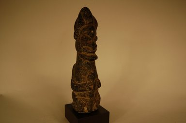 Kissi. <em>Figure</em>, early 20th century. Stone, 8 x 2 3/8 x 2 3/4 in. (20.3 x 6 x 7 cm). Brooklyn Museum, Gift in memory of Frederic Zeller, 2014.54.38 (Photo: Brooklyn Museum, CUR.2014.54.38_overall1.jpg)