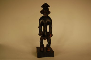 Senufo. <em>Figure of Male</em>, early 20th century. Wood, 8 1/16 x 2 3/8 x 2 3/8 in. (20.5 x 6 x 6 cm). Brooklyn Museum, Gift in memory of Frederic Zeller, 2014.54.43 (Photo: Brooklyn Museum, CUR.2014.54.43_overall.jpg)