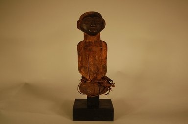 Songye. <em>Figure of Female</em>, early 20th century. Wood, fiber, organic materials, 6 x 2 9/16 x 2 9/16 in. (15.3 x 6.5 x 6.5 cm). Brooklyn Museum, Gift in memory of Frederic Zeller, 2014.54.44. Creative Commons-BY (Photo: Brooklyn Museum, CUR.2014.54.44_overall.jpg)