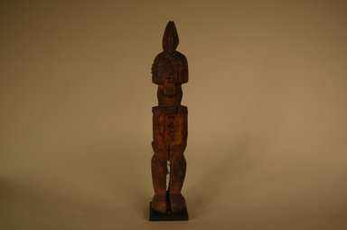 Teke. <em>Figure of Bearded Male</em>, 20th century. Wood, organic materials, 7 7/8 x 1 1/2 x 1 9/16 in. (20 x 3.8 x 4 cm). Brooklyn Museum, Gift in memory of Frederic Zeller, 2014.54.49 (Photo: Brooklyn Museum, CUR.2014.54.49_overall.jpg)
