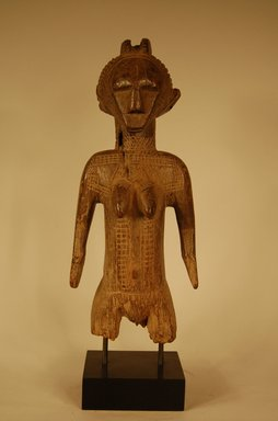 Mossi. <em>Figure of Female</em>, 20th century. Wood, height: 12 in. (30.5 cm). Brooklyn Museum, Gift in memory of Frederic Zeller, 2014.54.5 (Photo: Brooklyn Museum, CUR.2014.54.5_overall.jpg)