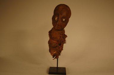 Bamum. <em>Figure</em>, 20th century. Wood, textile, teeth, reed, metal, 8 1/4 x 2 9/16 x 3 1/8 in. (21 x 6.5 x 8 cm). Brooklyn Museum, Gift in memory of Frederic Zeller, 2014.54.8 (Photo: Brooklyn Museum, CUR.2014.54.8_view01.jpg)