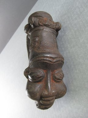 Bamum. <em>Pipe</em>, early 20th century. Terra cotta, 6 11/16 x 2 3/4 x 3 9/16 in. (17 x 7 x 9 cm). Brooklyn Museum, Gift in memory of Frederic Zeller, 2014.54.9 (Photo: Brooklyn Museum, CUR.2014.54.9_front.jpg)