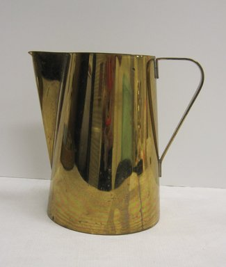 Anton (Tommi) Parzinger (American, born Germany 1903-1981). <em>Creamer, Part of Coffee Set</em>, ca. 1952. Brass, other metals, 5 x 5 1/2 x 3 5/8 in. (12.7 x 14 x 9.2 cm). Brooklyn Museum, Gift of Ravi R. Mathura, 2015.103.3 (Photo: Brooklyn Museum, CUR.2015.103.3.jpg)