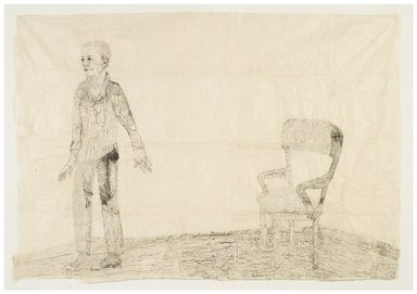 Kiki Smith (American, born Germany, 1954). <em>The Leaving</em>, 2007-2008. Ink on paper, glitter, graphite, and lithographic crayon, 72 x 105 in. (182.9 x 266.7 cm). Brooklyn Museum, Gift of the artist in honor of Arnold Lehman and Catherine Morris, 2015.32. © artist or artist's estate (Photo: Image courtesy of Pace Gallery, CUR.2015.32_Pace_Gallery_image_47090_SMITH.jpg)