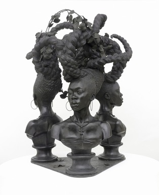 Kehinde Wiley (American, born 1977). <em>Bound</em>, 2014. Bronze, 65 x 45 1/2 x 44 in. (165.1 x 115.6 x 111.8 cm). Brooklyn Museum, Gift of Kehinde Wiley and Sean and Mary Kelly in honor of Arnold Lehman, 2015.59. © artist or artist's estate (Photo: Max Yawney photo, courtesy of Sean Kelly, New York, CUR.2015.59_view1_Sean_Kelly_photo_KW_SC15-01.jpg)