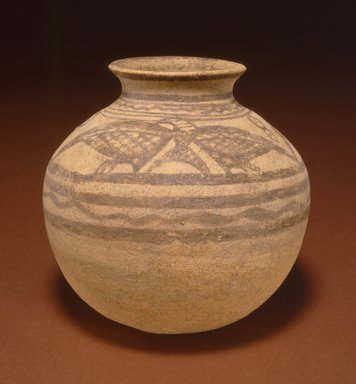 <em>Painted Vessel</em>, late 3rd millennium B.C.E. Clay, slip, height: 4 15/16 in. (12.5 cm). Brooklyn Museum, Gift of the Arthur M. Sackler Foundation, NYC, in memory of James F. Romano, 2015.65.13. Creative Commons-BY (Photo: Photograph courtesy of the Arthur M. Sackler Foundation, New York, CUR.2015.65.13_Sackler_Foundation_image.jpg)