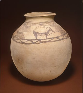 <em>Painted Jar with Goats</em>, ca. 2400-2200 B.C.E. Clay, height: 15 3/8 in. (39 cm). Brooklyn Museum, Gift of the Arthur M. Sackler Foundation, NYC, in memory of James F. Romano, 2015.65.17. Creative Commons-BY (Photo: Photograph courtesy of the Arthur M. Sackler Foundation, New York, CUR.2015.65.17_Sackler_Foundation_image.jpg)