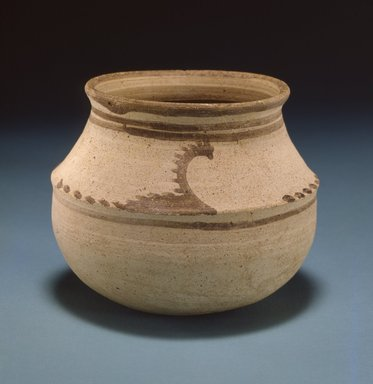 <em>Bowl Painted with Water Birds</em>, early 2nd millennium B.C.E. Clay, slip, height: 3 13/16 in. (9.7 cm). Brooklyn Museum, Gift of the Arthur M. Sackler Foundation, NYC, in memory of James F. Romano, 2015.65.18. Creative Commons-BY (Photo: Photograph courtesy of the Arthur M. Sackler Foundation, New York, CUR.2015.65.18_Sackler_Foundation_image.jpg)