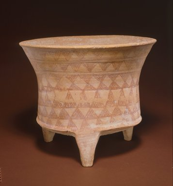 <em>Tripod Bowl</em>, early 2nd millennium B.C.E. Clay, slip, height: 9 13/16 in. (25 cm). Brooklyn Museum, Gift of the Arthur M. Sackler Foundation, NYC, in memory of James F. Romano, 2015.65.19. Creative Commons-BY (Photo: Photograph courtesy of the Arthur M. Sackler Foundation, New York, CUR.2015.65.19_Sackler_Foundation_image.jpg)