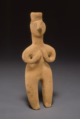 Ancient Near Eastern. <em>Female Figurine</em>, ca. 1000-800 B.C.E. Clay, height: 7 1/2 in. (19 cm). Brooklyn Museum, Gift of the Arthur M. Sackler Foundation, NYC, in memory of James F. Romano, 2015.65.25. Creative Commons-BY (Photo: Photograph courtesy of the Arthur M. Sackler Foundation, New York, CUR.2015.65.25_Sackler_Foundation_image.jpg)