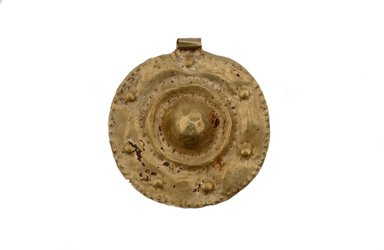<em>Pendant</em>, ca. 1000 B.C.E. Gold, diameter: 2 3/8 in. (6.1 cm). Brooklyn Museum, Gift of the Arthur M. Sackler Foundation, NYC, in memory of James F. Romano, 2015.65.36. Creative Commons-BY (Photo: Photograph courtesy of the Arthur M. Sackler Foundation, New York, CUR.2015.65.36_Sackler_Foundation_image.jpg)