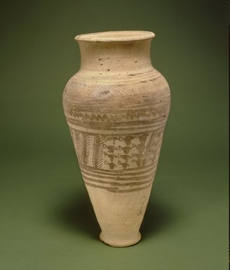 <em>Vessel</em>, first half of 2nd millennium B.C.E. Clay, slip, height: 12 3/4 in. (32.4 cm). Brooklyn Museum, Gift of the Arthur M. Sackler Foundation, NYC, in memory of James F. Romano, 2015.65.9. Creative Commons-BY (Photo: Photograph courtesy of the Arthur M. Sackler Foundation, New York, CUR.2015.65.9_Sackler_Foundation_image.jpg)