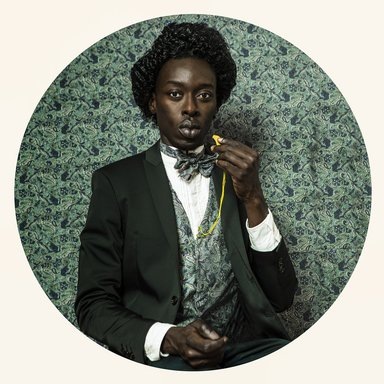 Omar Victor Diop (Senegalese, born 1980). <em>Frédérick Douglass</em>, 2015. Inkjet print, 23 5/8 x 23 5/8 in. (59.9 x 59.9 cm). Brooklyn Museum, William K. Jacobs, Jr. Fund, 2015.72.1. © artist or artist's estate (Photo: image courtesy of Magnin-A, CUR.2015.72.1_Magnin-A_photograph.jpg)