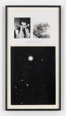 Charles Gaines (American, born 1944). <em>NIGHT/ CRIMES: Canis Major</em>, 1995. Photograph and silkscreened text, framed: 70 3/4 x 37 3/4 in. (179.7 x 95.9 cm). Brooklyn Museum, William K. Jacobs, Jr. Fund, 2015.94. © artist or artist's estate (Photo: Image courtesy of Paula Cooper Gallery, Steven Probert,er, CUR.2015.94_Paula_Cooper_Gallery_CGA-2-PH_SP_Steven_Probert_photograph.jpg)