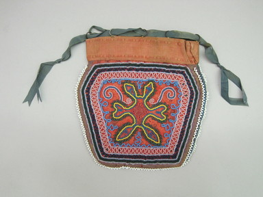 Seneca. <em>Beaded Pouch</em>, ca. 1835. Cloth, beads, 5 3/4 × 1/4 × 6 1/4 in. (14.6 × 0.6 × 15.9 cm). Brooklyn Museum, Gift of the Edward J. Guarino Collection in memory of Josephine M. Guarino, 2016.11.5. Creative Commons-BY (Photo: , CUR.2016.11.5_view01.jpg)