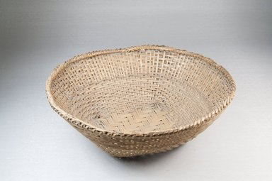 <em>Basket</em>, early 20th century. Vegetal fiber, cane, 9 x 3 in. (22.9 x 7.6 cm). Brooklyn Museum, Museum Expedition 1909, Purchased with funds given by Thomas T. Barr, E. LeGrand Beers, Carll H. de Silver, Herman B. Stutzer, Colonel Robert B. Woodward and the Museum Collection Fund, 2016. Creative Commons-BY (Photo: Brooklyn Museum, CUR.2016_front_PS5.jpg)
