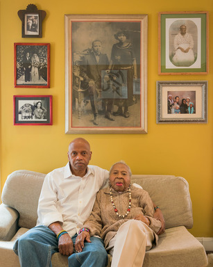 Kris Graves (American, born 1982). <em>Tarabu and Mamie Kirkland, Los Angeles, California</em>, 2017. Inkjet print, sheet: 17 x 22 in. Brooklyn Museum, Gift of the artist, 2017.25.1. © artist or artist's estate (Photo: Image courtesy of Kris Graves, CUR.2017.25.1_KrisGraves_photograph.jpg)