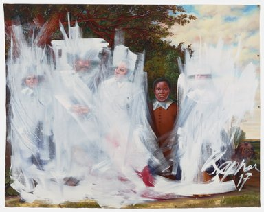 Titus Kaphar (American, born 1976). <em>Shifting the Gaze</em>, 2017. Oil on canvas, 83 × 103 1/4 in. (210.8 × 262.3 cm). Brooklyn Museum, William K. Jacobs Jr., Fund, 2017.34. © artist or artist's estate (Photo: Image courtesy of Jack Shainman Gallery, CUR.2017.34_Jack_Shainman_Gallery.jpg)