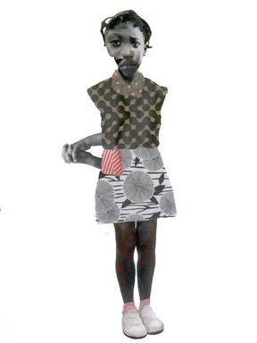 Deborah Roberts (American, born 1962). <em>Crisscrossing</em>, 2018. Mixed media on paper (paper, acrylic paint, colored pencil and graphite), 50 × 38 1/2 in. (127 × 97.8 cm). Brooklyn Museum, William K. Jacobs, Jr., Fund, 2018.12. © artist or artist's estate (Photo: Photo courtesy Jenkins Johnson Gallery, CUR.2018.12_JenkinsJohsnonGallery_photograph.jpg)