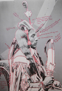 Wendy Red Star (Apsáalooke (Crow), born 1981). <em>Peelatchiwaaxpáash / Medicine Crow (Raven)</em>, 2014. Inkjet print, each panel: 25 × 17 in. (63.5 × 43.2 cm). Brooklyn Museum, Gift of Loren G. Lipson, M.D., 2018.19.1b. © artist or artist's estate (Photo: , CUR.2018.19.1b.jpg)