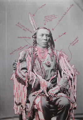 Wendy Red Star (Apsáalooke (Crow), born 1981). <em>Peelatchixaaliash / Old Crow (Raven)</em>, 2014. Inkjet print, each panel: 25 × 17 in. (63.5 × 43.2 cm). Brooklyn Museum, Gift of Loren G. Lipson, M.D., 2018.19.2b. © artist or artist's estate (Photo: , CUR.2018.19.2b.jpg)