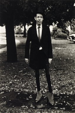Diane Arbus (American, 1923-1971). <em>A Very Thin Man in Central Park, N.Y.C.</em>, 1961. Gelatin silver photograph, sheet: 14 × 11 in. (35.6 × 27.9 cm). Brooklyn Museum, Gift of Jeffrey Fraenkel and Frish Brandt, 2019.49.1 (Photo: Image courtesy of Fraenkel Gallery, CUR.2019.49.1_FraenkelGallery_photograph.jpg)