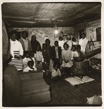 Diane Arbus (American, 1923-1971). <em>Black Family, Beaufort County, S.C. [Robert Evans with His Children and Grandchildren, Beaufort County, S.C.]</em>, 1968. Gelatin silver photograph, sheet: 20 × 16 in. (50.8 × 40.6 cm). Brooklyn Museum, Gift of Jeffrey Fraenkel and Frish Brandt, 2019.49.2 (Photo: Image courtesy of Fraenkel Gallery, CUR.2019.49.2_FraenkelGallery_photograph.jpg)