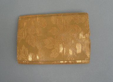 <em>Hat (Hu-dai-mosu)</em>., 6 x 1 9/16 x 6 in. (15.3 x 4 x 15.2 cm). Brooklyn Museum, Museum Expedition 1909, Purchased with funds given by Thomas T. Barr, E. LeGrand Beers, Carll H. de Silver, Herman B. Stutzer, Colonel Robert B. Woodward and the Museum Collection Fund, 20220. Creative Commons-BY (Photo: Brooklyn Museum, CUR.20220_side2.jpg)