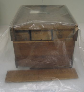 <em>Box of Playing Cards (Kokinshu)</em>. wood and paper, 8 11/16 x 10 13/16 x 12 in. (22 x 27.5 x 30.5 cm). Brooklyn Museum, Museum Expedition 1909, Purchased with funds given by Thomas T. Barr, E. LeGrand Beers, Carll H. de Silver, Herman B. Stutzer, Colonel Robert B. Woodward and the Museum Collection Fund, 20687. Creative Commons-BY (Photo: Brooklyn Museum, CUR.20687_view1.jpg)