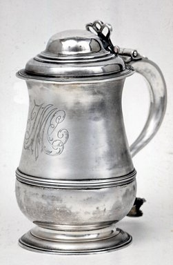 <em>Cylindrical Tankard</em>, 1761. Silver, 8 1/4 x 4 3/16 in. (21 x 10.6 cm). Brooklyn Museum, Bequest of Samuel E. Haslett, 21.252. Creative Commons-BY (Photo: Brooklyn Museum, CUR.21.252.jpg)