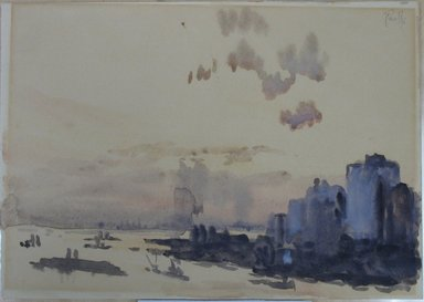 Joseph Pennell (American, 1860-1926). <em>After Sunset</em>. Watercolor, 7 1/16 x 9 15/16 in. (17.9 x 25.2 cm). Brooklyn Museum, John B. Woodward Memorial Fund, 21.40 (Photo: Brooklyn Museum, CUR.21.40.jpg)