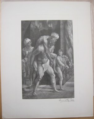 Timothy Cole (American, 1852-1931). <em>Aeneas Group</em>, 1891. Wood engraving, Sheet: 12 1/8 x 9 1/2 in. (30.8 x 24.1 cm). Brooklyn Museum, Museum Collection Fund, 21.499 (Photo: Brooklyn Museum, CUR.21.499.jpg)