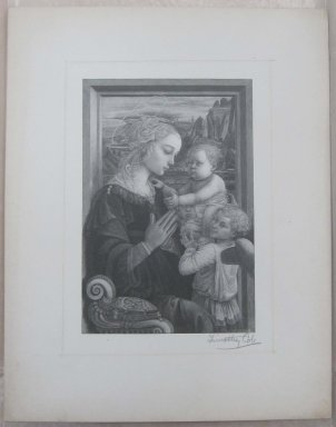 Timothy Cole (American, 1852-1931). <em>The Virgin Adoring Infant</em>, 1889. Wood engraving, Sheet: 12 1/8 x 9 1/2 in. (30.8 x 24.1 cm). Brooklyn Museum, Museum Collection Fund, 21.504 (Photo: Brooklyn Museum, CUR.21.504.jpg)
