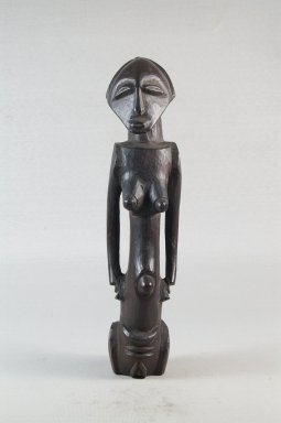 Possibly Luba. <em>Figure of a Standing Female</em>, late 19th or early 20th century. Wood, 9 5/8 x 5/16 in. (24.4 x 0.8 cm). Brooklyn Museum, Museum Expedition 1922, Robert B. Woodward Memorial Fund