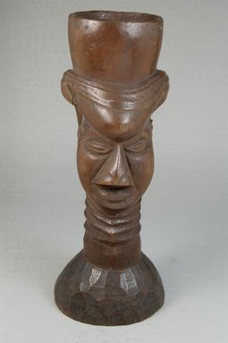 Kuba. <em>Single Head Goblet (Mbwoongntey)</em>, early 20th century. Wood, 9 x 4 in. (22.9 x 10.2 cm). Brooklyn Museum, Museum Expedition 1922, Robert B. Woodward Memorial Fund, 22.121. Creative Commons-BY (Photo: Brooklyn Museum, CUR.22.121_front_PS5.jpg)