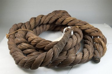 <em>Rope</em>, before 1922. Fiber, 1 3/8 x 152 3/8 in. (3.5 x 387 cm). Brooklyn Museum, Museum Expedition 1922, Robert B. Woodward Memorial Fund, 22.1239. Creative Commons-BY (Photo: Brooklyn Museum, CUR.22.1239_front_PS5.jpg)