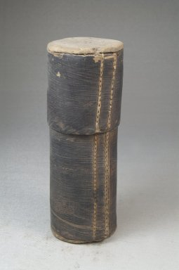 <em>Cylindrical Box</em>. Bark, wood, fiber, pigment Brooklyn Museum, Museum Expedition 1922, Robert B. Woodward Memorial Fund, 22.1268. Creative Commons-BY (Photo: Brooklyn Museum, CUR.22.1268_front_PS5.jpg)