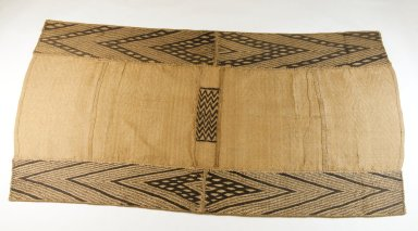 Mbuun. <em>Raffia Cloth</em>, 19th century. Raffia, 35 7/8 x 19 3/8 in. (91.0 x 49.0 cm). Brooklyn Museum, Museum Expedition 1922, Robert B. Woodward Memorial Fund, 22.1322. Creative Commons-BY (Photo: Brooklyn Museum, CUR.22.1322_top_PS5.jpg)