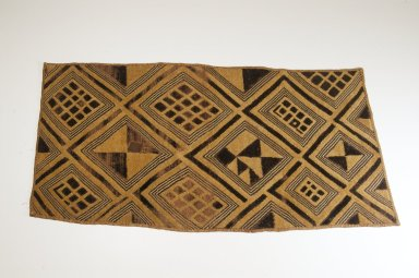 Kuba (Bushoong subgroup). <em>Raffia Cloth</em>, 19th century. raffia, 25 5/8 x 13 1/2 in. (65.0 x 34.2 cm). Brooklyn Museum, Museum Expedition 1922, Robert B. Woodward Memorial Fund, 22.1349. Creative Commons-BY (Photo: Brooklyn Museum, CUR.22.1349_top_PS5.jpg)