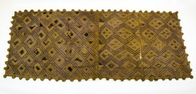Kuba (Bushoong subgroup). <em>Raffia Cloth</em>, 19th century., 139.0 x 60.0 cm. Brooklyn Museum, Museum Expedition 1922, Robert B. Woodward Memorial Fund, 22.1350. Creative Commons-BY (Photo: Brooklyn Museum, CUR.22.1350_top_PS5.jpg)
